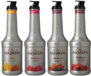 Monin Fruit Puree: (Mango,Raspberry,Superfruit,Wildberry) - 1L Plastic Bottle