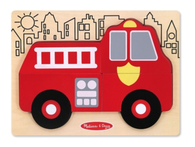 My First Chunky Puzzle: Fire Truck - 6pc Chunky Wood Puzzle By Melissa & Doug