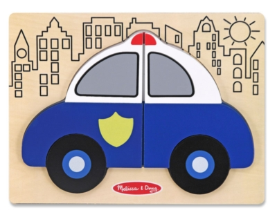 My First Chunky Puzzle: Police Car - 6pc Chunky Wood Puzzle By Melissa & Doug