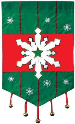 Snowflake - Standard Applique Flag by Toland