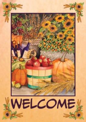 Autumn Bounty - Garden Flag by Toland