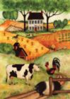 Farm Gathering - Garden Flag by Toland