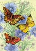 Flowers & Butterflies - Garden Flag by Toland