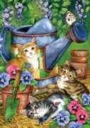 Garden Kitties - Garden Flag by Toland