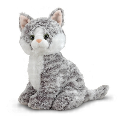 "Greycie Tabby - 9.5"" Sitting Cat by Melissa & Doug"