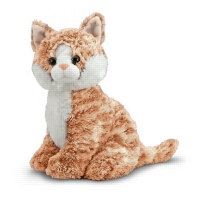 "Pumpkin Tabby - 9.5"" Sitting Cat by Melissa & Doug"