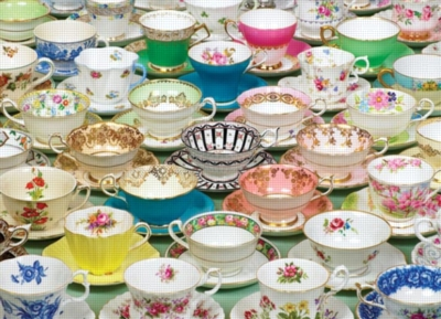 Tea Cups - 1000pc Hard Jigsaw Puzzle by Cobble Hill