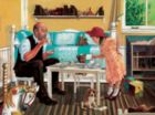 Tea With Grandpa - 275pc Large Format Jigsaw Puzzle by Cobble Hill