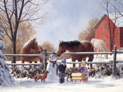 Frosty's Friends - 400pc Family Style Jigsaw Puzzle by Cobble Hill