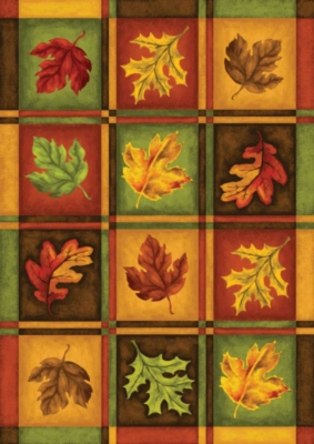 Fall Leaves - Garden Flag by Toland