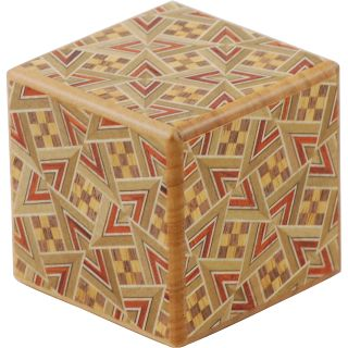 Karakuri Small Box #1: KT (Kirichigai) - Japanese Puzzle Box