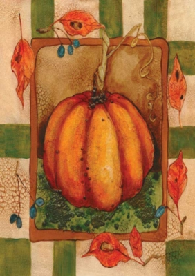 Crackled Pumpkin - Garden Flag by Toland