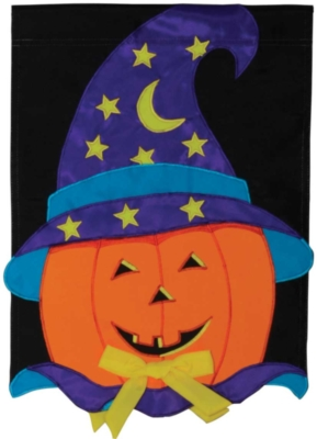 Magic Pumpkin - Standard Applique Flag by Toland