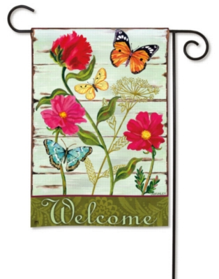 Butterfly Welcome - Garden Flag by Magnet Works