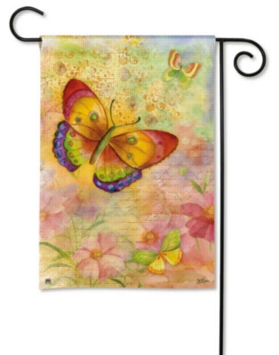 Colorful Butterflies - Garden Flag by Magnet Works