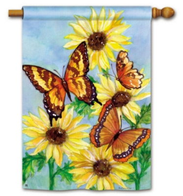 Butterfly Meadow - Standard Flag by Magnet Works