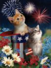 Patriotic Kittens - 300pc Large Format Jigsaw Puzzle By Sunsout