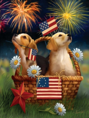 Yankee Doodle Pups - 300pc Large Format Jigsaw Puzzle By Sunsout