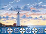 Lighthouse Quiltscape - 500pc Jigsaw Puzzle By Sunsout