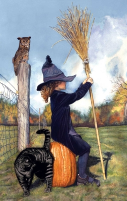 Waiting for the Witching Hour - 550pc Jigsaw Puzzle By Sunsout