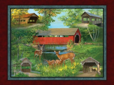 Covered Bridge Cameos - 500pc Jigsaw Puzzle By Sunsout