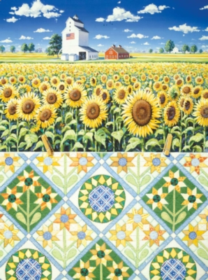 Jigsaw Puzzles - Sunflowers Quiltscape