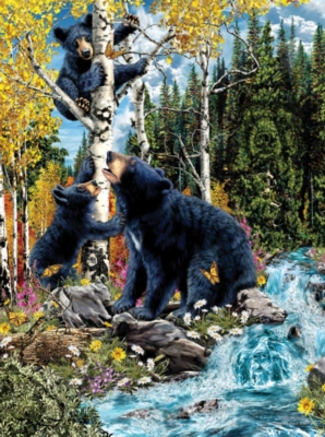 15 Black Bears - 1000pc Jigsaw Puzzle By Sunsout