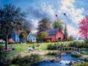 Flying the Kites - 1000pc Jigsaw Puzzle By Sunsout