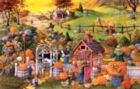 Playing in Autumn Water Puddles - 1000pc Jigsaw Puzzle By Sunsout