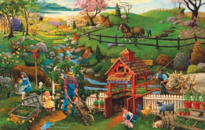 Helping Spring Planting - 1000pc Jigsaw Puzzle By Sunsout