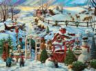 Building Winter Snowmen - 1000pc Jigsaw Puzzle By Sunsout
