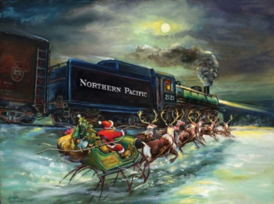 North Pole Express - 1000pc Jigsaw Puzzle By Sunsout