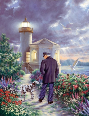 The Lighthouse Keeper - 1000+pc Large Format Jigsaw Puzzle By Sunsout