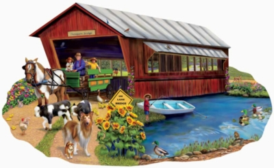 Going to Town - 1000pc Shaped Jigsaw Puzzle By Sunsout