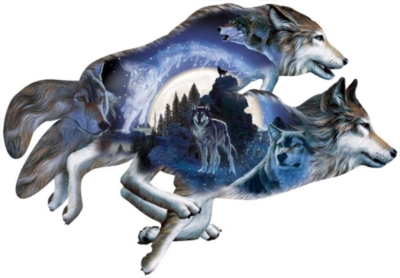 Wolf Puzzles - Moonlight Warrior