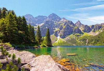 Jigsaw Puzzles - Morskie Oko Lake, Tatras, Poland