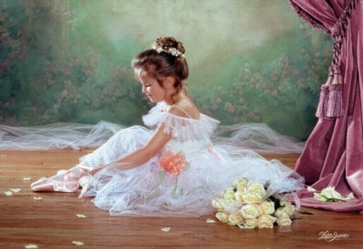 Peaceful Ballerina - 500pc Jigsaw Puzzle by Castorland