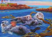 Sea Otter Family - 400pc Family Style Jigsaw Puzzle by Cobble Hill