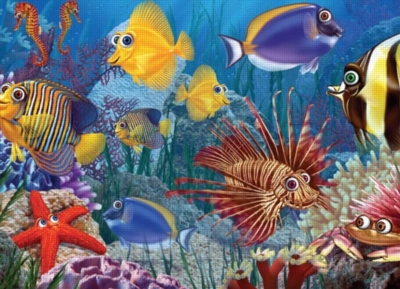 Do Fish Ever Sleep? - 35pc Tray Puzzle by Cobble Hill