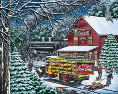 Coca-Cola: Yule Time Delivery - 1500pc Jigsaw Puzzle by Springbok