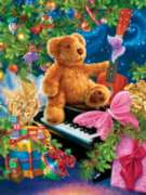 Springbok Jigsaw Puzzles - Christmas Bear Wishes