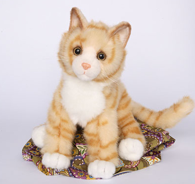"Peaches - 16"" Orange Tabby Cat by Douglas Cuddle Toys"