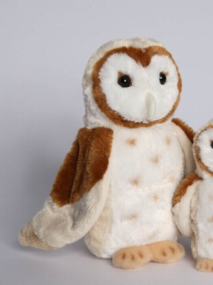 "Luna Barn Owl - 11"" Owl By Douglas Cuddle Toy"