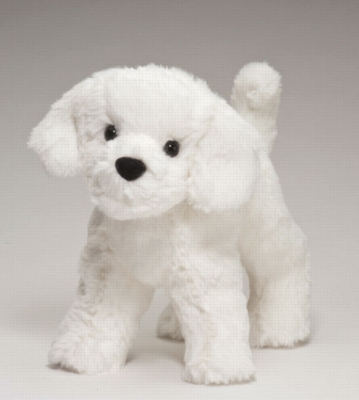 "Dandelion Puff Bichon - 8"" Dog By Douglas Cuddle Toy"