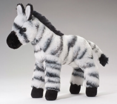 "Zippy - 8"" Zebra By Douglas Cuddle Toy"