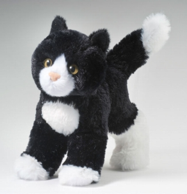 "Snippy Black and White - 8"" Cat By Douglas Cuddle Toy"