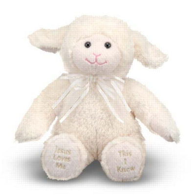 "Jesus Loves Me Lamb - 12"" Lamb by Melissa & Doug"