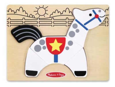 My First Chunky Puzzle: Horse - 6pc Chunky Wood Puzzle By Melissa & Doug