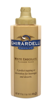 Ghirardelli Classic White Chocolate Sauce - 17 oz. Squeeze Bottle