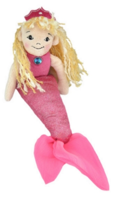 "Pink Mermaid - 10.5"" Mermaid By Douglas Cuddle Toy"